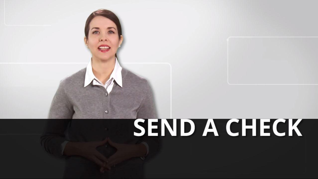 Send a Check