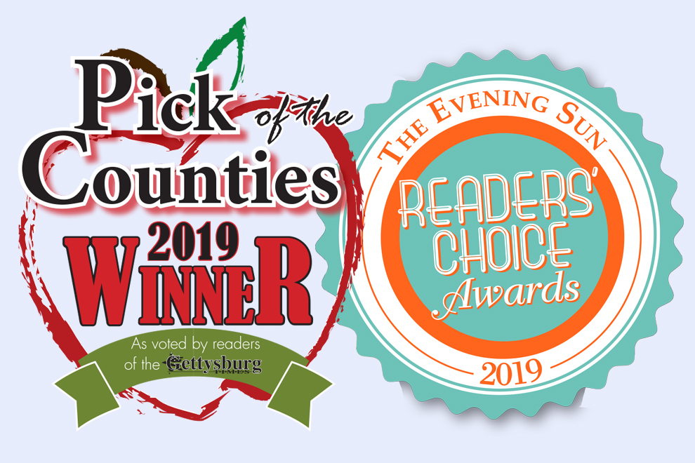 Gettysburg Times Pick of the Counties and Evening Sun Readers' Choice Logos